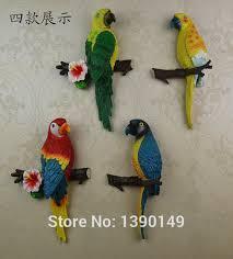 Birds Home Decor Artificial Parrot Bird Garden Home Decor Taxidermy Budgie