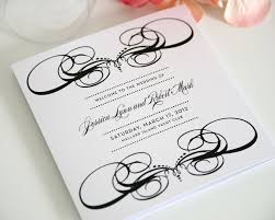 cardstock for wedding programs decadence tri fold wedding programs sle in black and