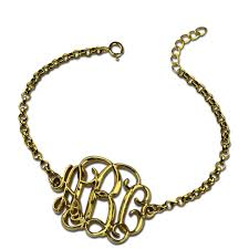Name Bracelets Gold Wholesale Personalized Name Bracelet Gold Color Monogram Chain