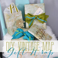 gift wrap christmas diy vintage map christmas gift wrap and gift bags the diy