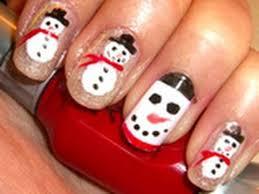 holiday nail design glittery snowmen youtube