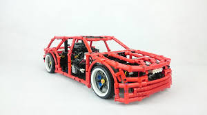 this fully functional lego technic 4x4 drift wagon is wonderfully