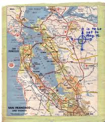 San Francisco California Map by Phillips 66 Map Huge
