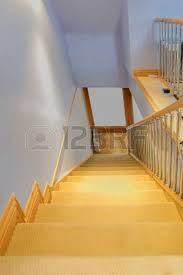 stairs and stair carpet inside a newly modernised house stock