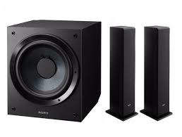 sony home theater sony sscs3 floor standing speaker 2 units u0026 sony 10 inch active