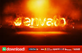 fire logo intro videohive project free download free after