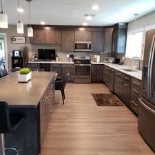 kitchen backsplash ideas black cabinets 75 beautiful kitchen with gray cabinets and glass tile