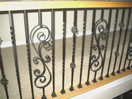 decorations wrought iron floral craft stair spindles for elegant