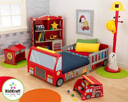 Toddler Bed Jake Kidkraft Firefighter Toddler Car Bed U0026 Reviews Wayfair