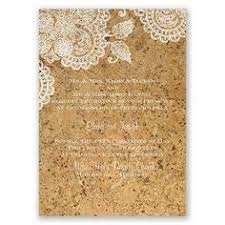 wedding invitations cork layered rustic wedding invitation printed with white ink on cork
