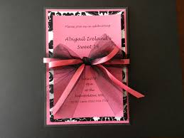 Sweet 16 Invitations Cards Pink And Black Sweet 16 Invitation By Invitesbysorella On Etsy