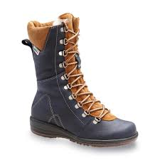 martino of canada s boots martino s banff 9 navy brown lace up winter weather boot