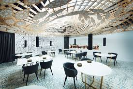 restaurant full of pattern by the gg architects