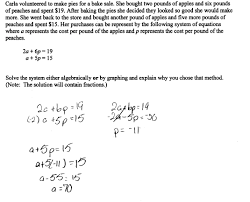 Worksheet Word Equations Apples And Peaches Students Are Asked To Solve A System Of