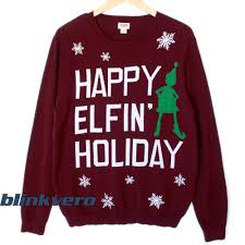 elfin tacky christmast sweater t shirt