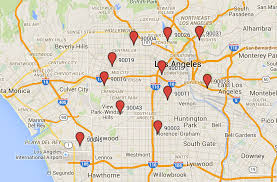 Map Los Angeles Los Angeles Neighborhood Map