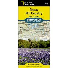Texas Hill Country Map Texas Hill Country Destination Map National Geographic Store