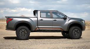 gray nissan truck nissan unveils the titan warrior an off roading concept with