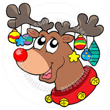 cartoon christmas reindeer images cartoon simplepict com