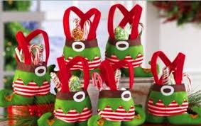 Candy Basket Elf And Santa Pants Style Candy Basket Bags Christmas Xmas Gift