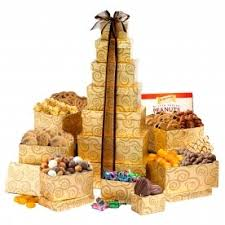 gift towers make an impression with gourmet gift towers broadway basketeers