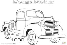 1939 dodge pickup coloring page free printable coloring pages