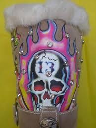 womens boots burning ed hardy womens boots burning skeleton with rhinestone 390521