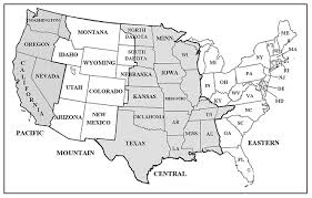 us map with state abbreviations and time zones us time zone map thempfa org