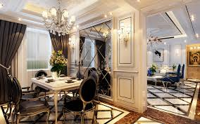 neo classical style restaurant decorated backdrop interior design