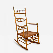 Rocking Chair R J Horner U0026 Co Aesthetic Movement Faux Bamboo Rocking Chair