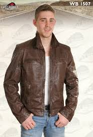 Cowhide Leather Vest Classic Cowhide Leather Jacket Black Color For Man