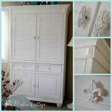 Entertainment Armoire With Pocket Doors Armoire Amour Fox Hollow Cottage