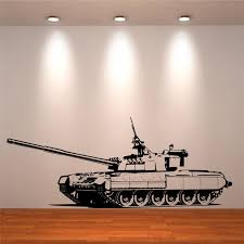 wall stickers tank army boys girls bedroom wall art stickers zoom