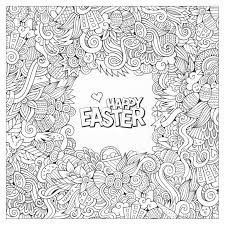 doodle easter by olga kostenko easter coloring pages for