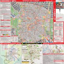 Madrid Spain Map Large Detailed Tourist Map Of Madrid