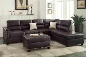 Cuddler Sofa Sectional Furniture Sectional With Cuddler And Chaise Brown Leather