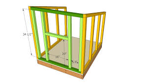 doghouse front face plans kennels pinterest large dog house