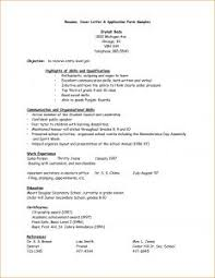 Resume Form For Job by Examples Of Resumes 81 Terrific Simple Resume Template Microsoft