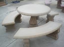 Concrete Patio Tables And Benches Bench Design Astounding Concrete Patio Table And Benches