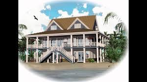 elevated coastal home plan fantastic house plans living cottage