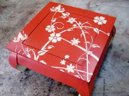 how to make stencils for painting furniture