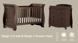 Boori Sleigh Cot Bed Boori Sleigh Package Cot Chest Mattress And Change Tray