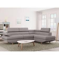 canapé mistergooddeal 330 sur canapé d angle style scandinave 4 places tissu gris clair