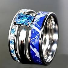 camo wedding sets unique camo wedding ring sets blue