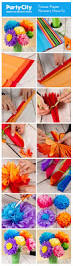 how to make pretty tissue paper flowers step by step photo