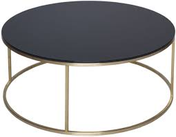 black and glass coffee table black glass coffee table round with brass base
