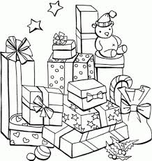 christmas present coloring pages animebgx