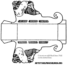 santa clause foldable paper sleigh png 1486 1452 kid stuff i