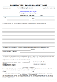 basic bid proposal template bid proposal examples for your
