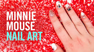 how to create minnie mouse nail art tutorial tips by disney